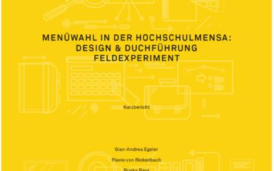 Menüwahl in der Hochschulmensa: Design & Durchführung Feldexperiment