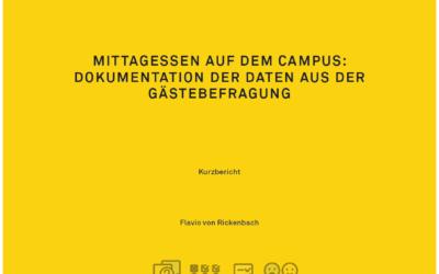 Mittagessen auf dem Campus: Dokumentation der Daten aus der Gästebefragung
